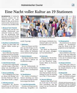 05/2019 K&B Kultournacht in Neumünster