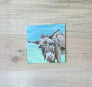 Esel - 10x10 cm