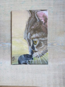 Katze-Maus - 15x10 cm