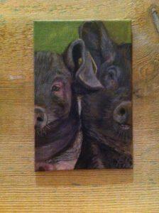 Schweinchen-Glück - 15x10 cm